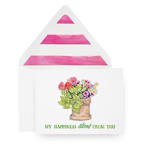S/8 Stems From You Greeting Cards