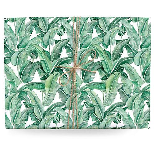 S/3 Banana Leaf Gift Wrap