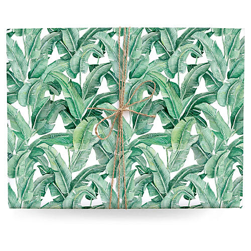 S/3 Banana Leaf Gift Wrap