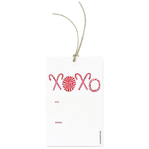 S/12 Festive XOXO Gift Tags