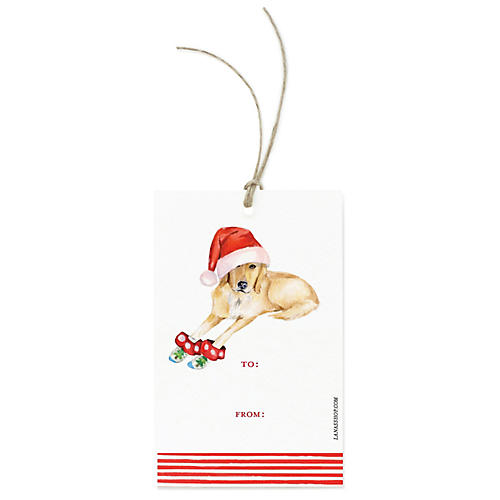 S/12 Yellow Lab Gift Tags