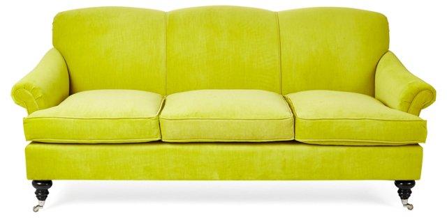 """Joplin 83"""" Sofa, Citrus Velvet"""