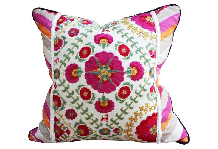 Arabella Fleur Pillow, Rose