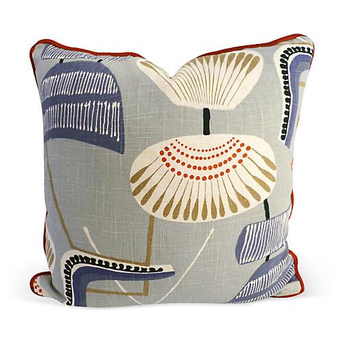 Easton 20x20 Linen Pillow, Gray Multi