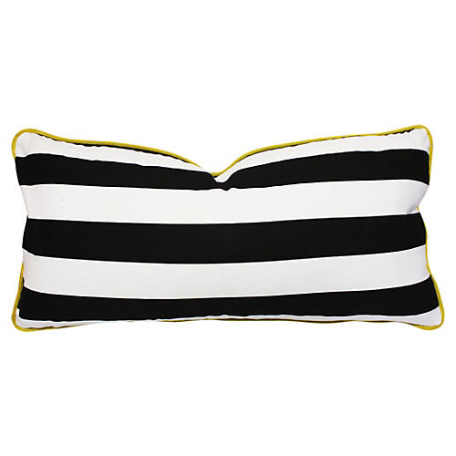 Sui 14x28 Cotton-Blend Pillow, Black