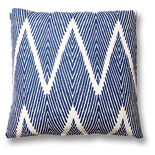 Nandi 20x20 Cotton-Blend Pillow, Navy