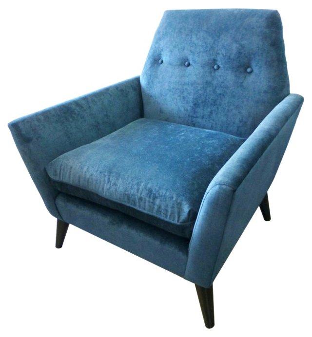 Porter Chair, Teal Velvet