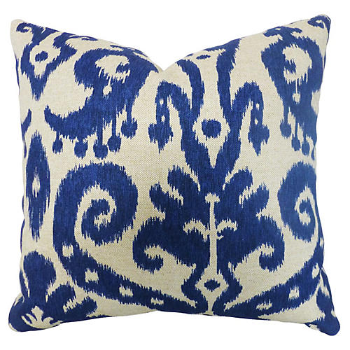 Bimini 20x20 Cotton Pillow, Blue