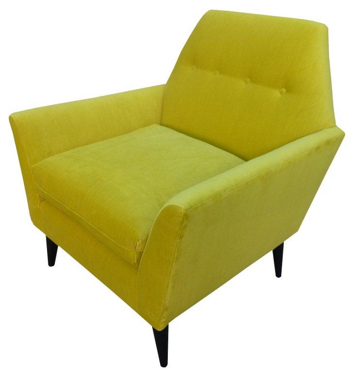 Porter Cotton Chair, Citrus