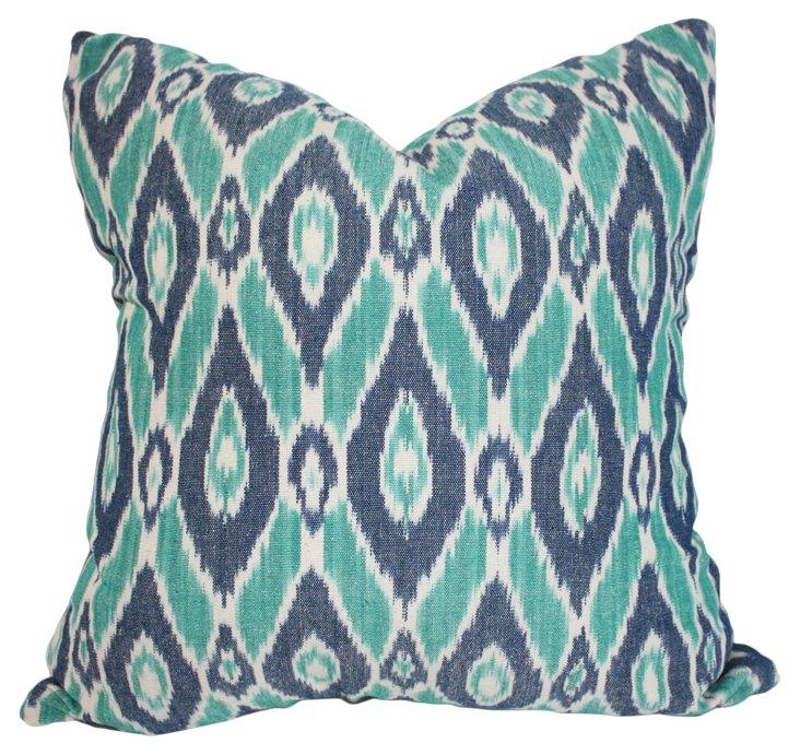 Jess 20x20 Cotton Pillow, Teal