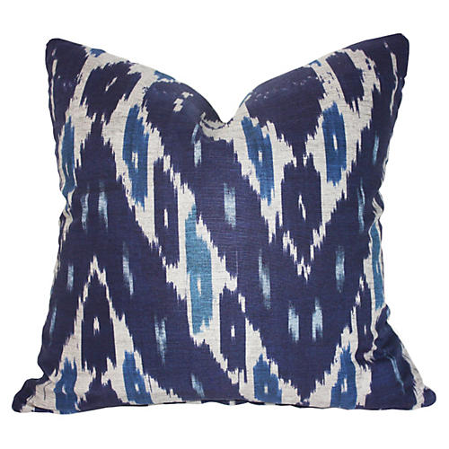 Mary 20x20 Cotton Pillow, Navy