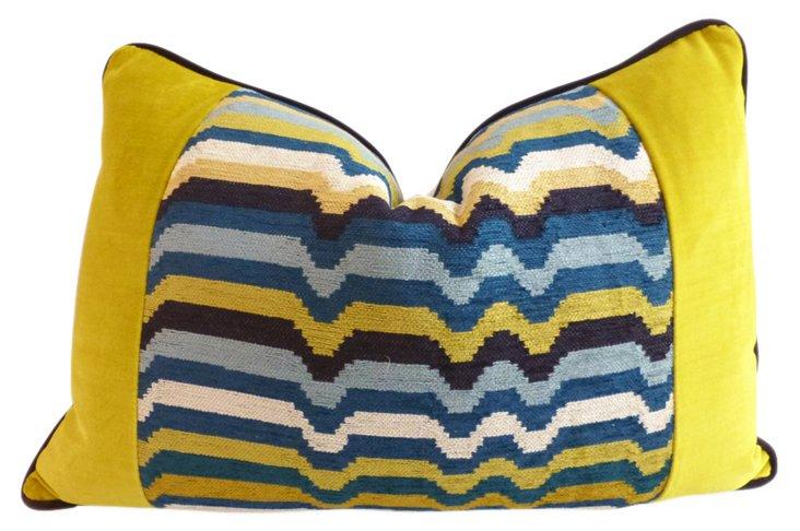 Miles 14x20 Velvet Pillow, Multi