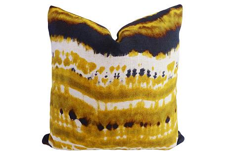 Boho-Chic Linen Pillow, Multi
