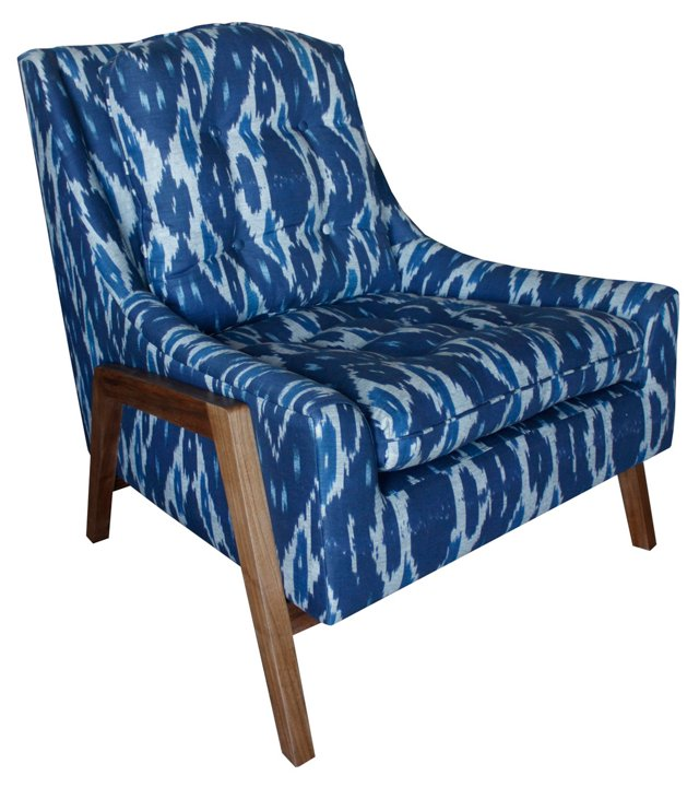 Grace Lounge Chair, Navy