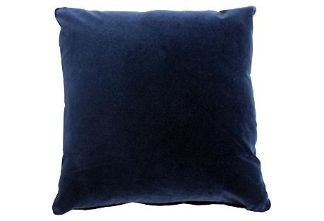 Pompeii 20x20 Cotton Pillow, Navy