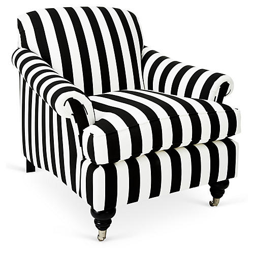 Joplin Chair, Black/White