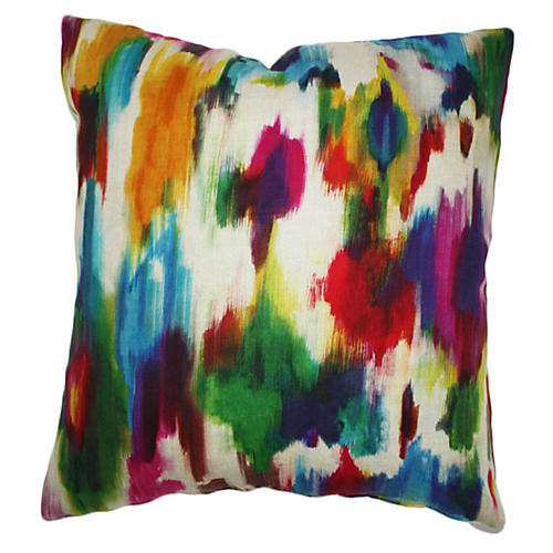 Poppy 20x20 Linen Pillow, Multi