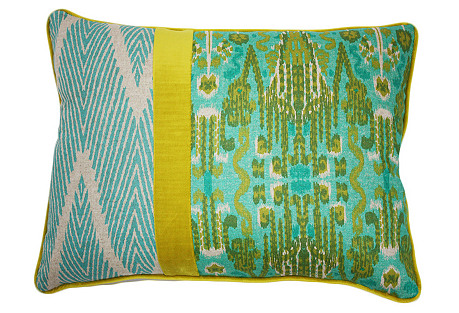Yin 14x20 Cotton Pillow, Multi