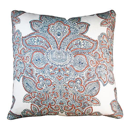 Maris 20x20 Linen Pillow, Blue