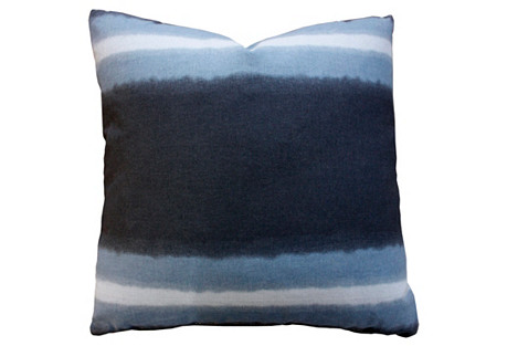 Heath 20x20 Cotton Pillow, Navy