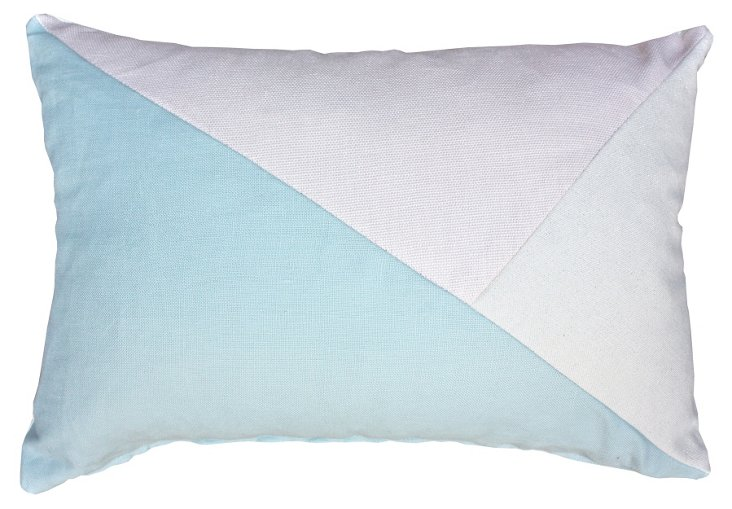 Pastel 14x20 Cotton-Blend Pillow, Aqua