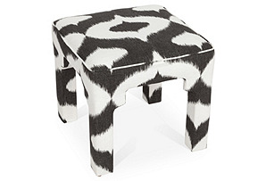 Hicks Stool, Black/White
