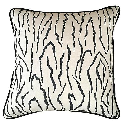 Zebra 20x20 Pillow, Ivory