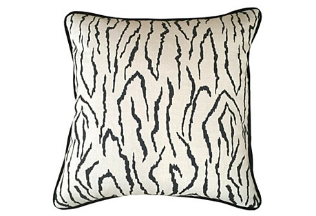 Zebra 20x20 Pillow, Ivory
