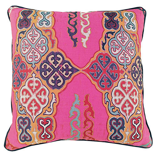 Nadine 24x24 Pillow, Pink