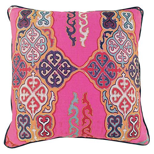 Nadine 24x24 Pillow, Pink