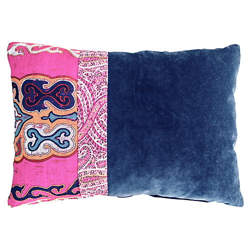 Nadine 14x20 Pillow, Blue