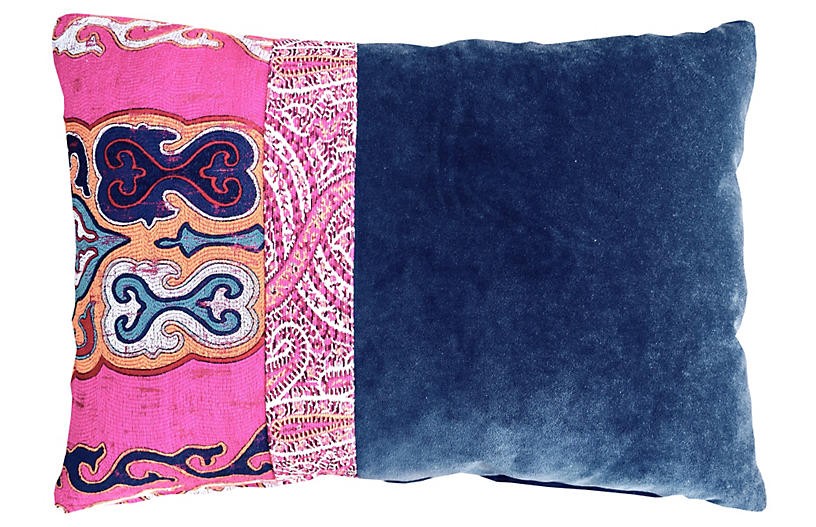 Nadine 14x20 Pillow - Blue - Kim Salmela