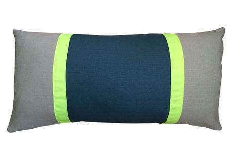 Racing Stripe 14x28 Pillow, Teal