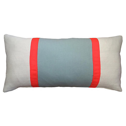 Racing Stripe 14x28 Pillow, Aqua