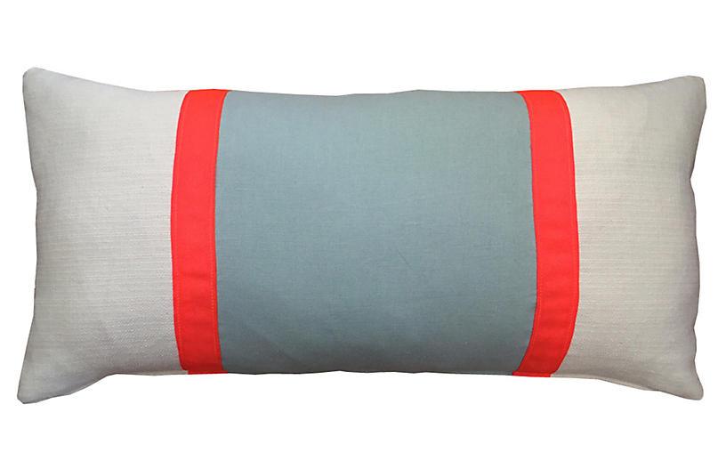 Racing Stripe 14x28 Pillow - Aqua - Kim Salmela