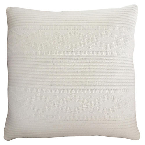 Cable Knit 24x24 Pillow, Ivory