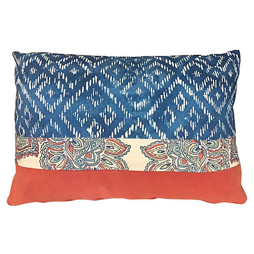 Mahesh 14x20 Pillow, Blue