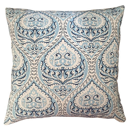 Willow Blues 20x20 Pillow, Ivory