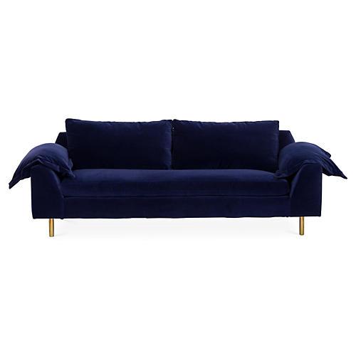 Clark Sofa, Lapis Blue Velvet