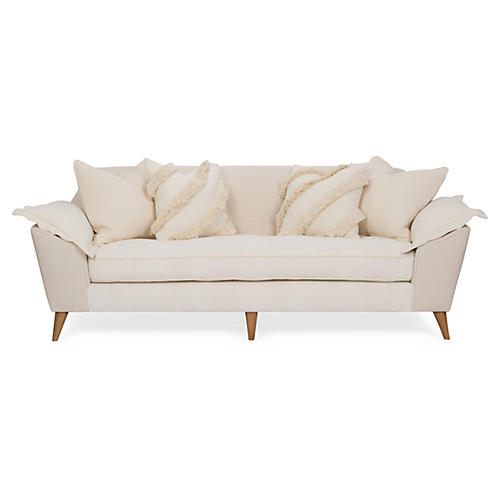"Annelise 84"" Sofa, Cream Cable Knit"