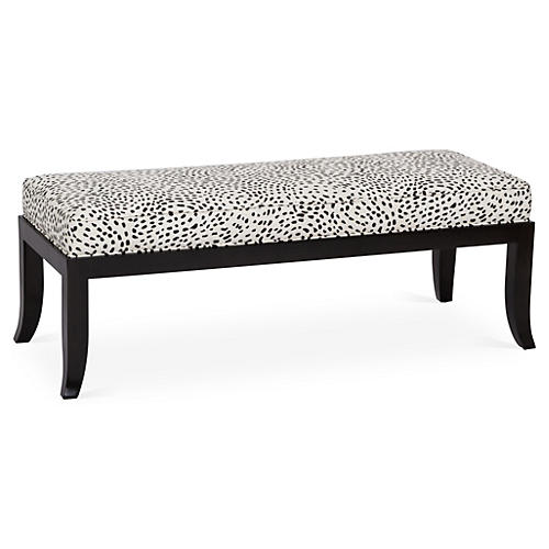 "Tilly 48"" Bench, Black Spots"