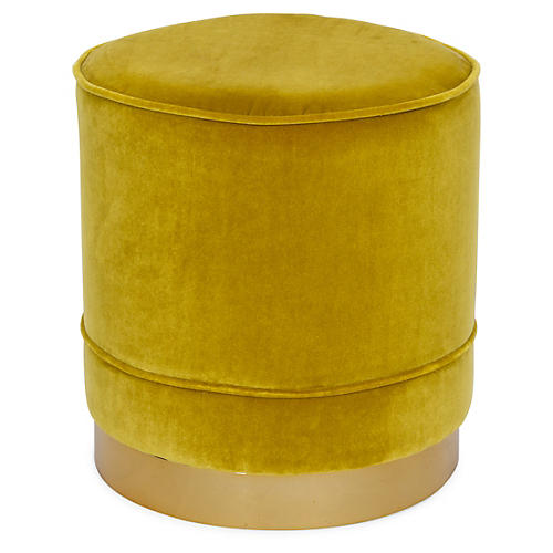 Piper Stool, Citrine Velvet