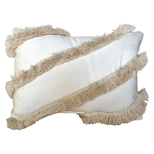 Ibiza 14x20 Outdoor Pillow, White