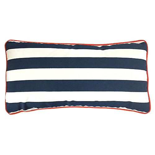 Cabana 14x28 Outdoor Pillow, Navy