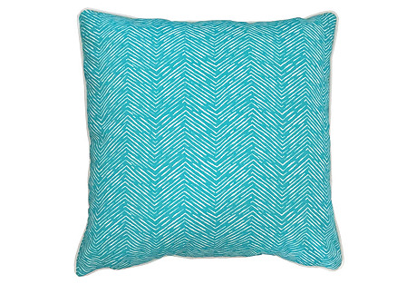 Key West Outdoor Pillow, Turq