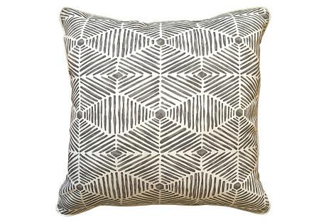 Henna Outdoor Pillow, Gray