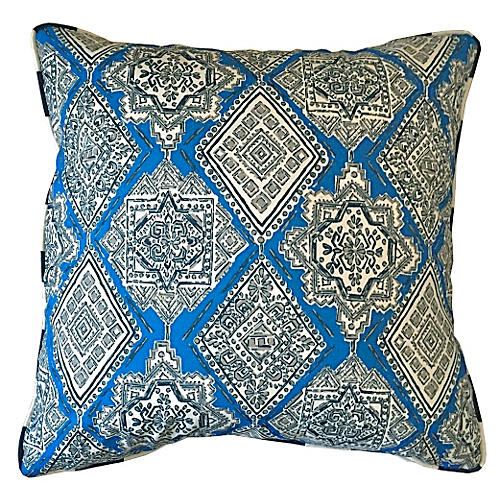 Tulum Outdoor Pillow, Cobalt