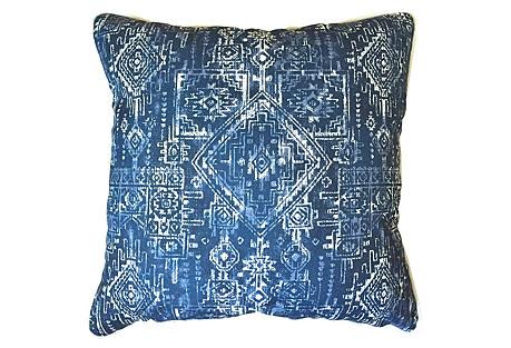 Akumal Outdoor Pillow, Indigo