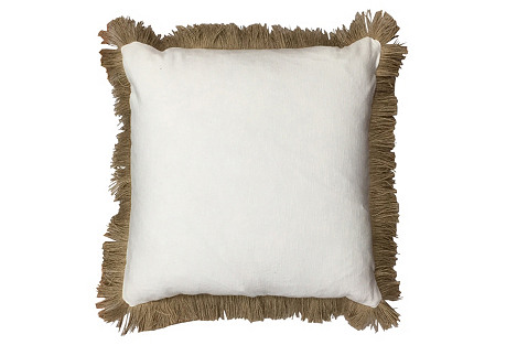 Cameroon 20x20 Pillow, White