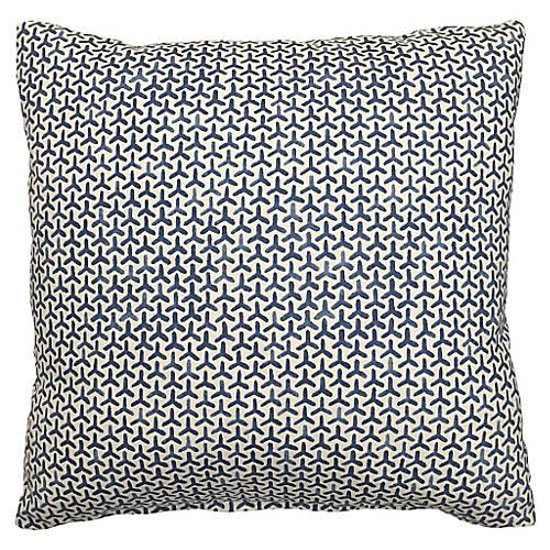 Luna 20x20 Cotton Pillow, Lake Blue